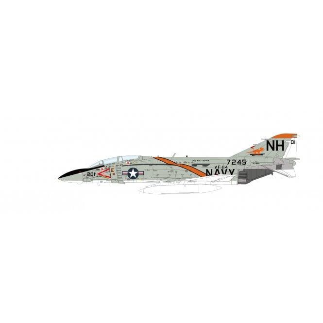 "Hobby Master 1:72 F-4J Phantom II ""Mig-21 Killer"" 157245, VF-114 Aardvarks, USS Kitty Hawk, 1972"