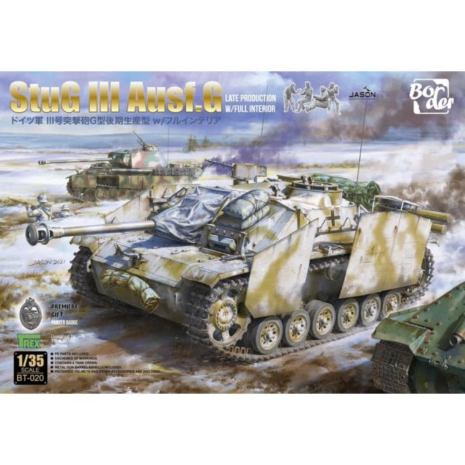 Border Models 1:35 StuG III Ausf.G with full interior and figures Military Model Kit