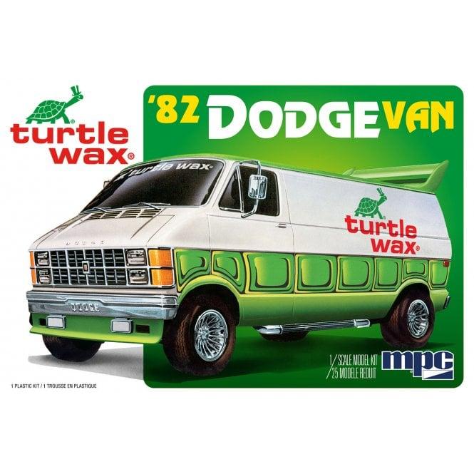 MPC 1:25 1982 Dodge Van Custom (Turtle Wax) Car Model Kit