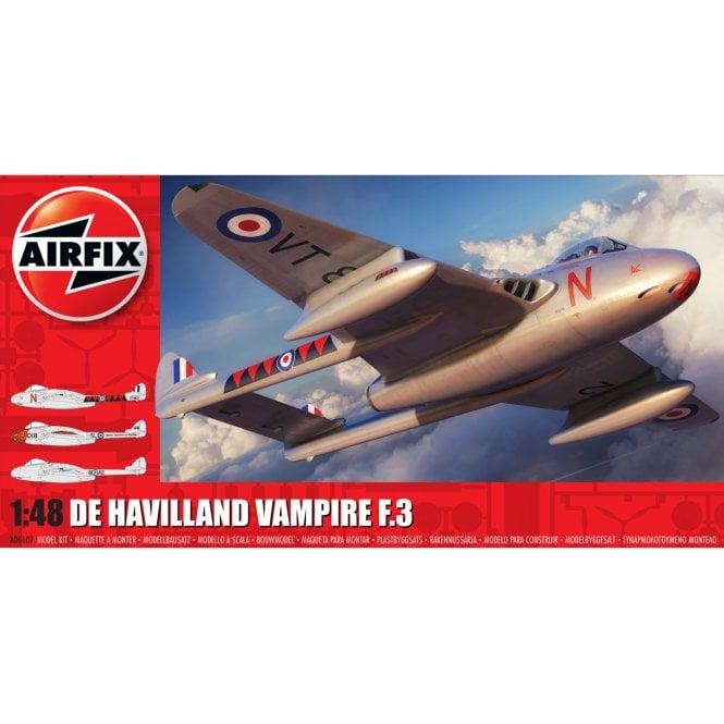 Airfix 1:48 de Havilland Vampire F.3 Model Kit