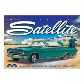 Moebius Models 1:25 1965 Plymouth Satellite Car Model Kit