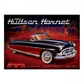 Moebius Models 1:25 1952 Hudson Hornet Convertible with detailed H-145 engine Car Model Kit
