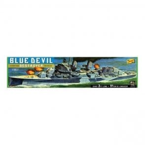 Linberg 1:125 Blue Devil Destroyer - USS Melvin (DD-680) Without Motor Ship Kit
