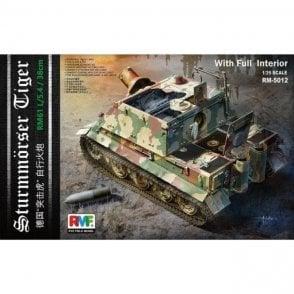 Rye Field Model 1:35 Sturmmörser Tiger RM61 L/5,4 / 38 cm w/Full Interior Military Model Kit