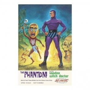Atlantis Models 1:8 The Phantom and the Voodoo Witch Doctor Figure Kit