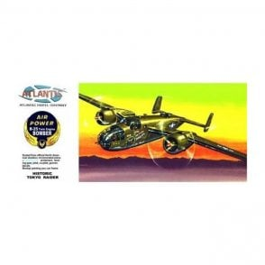 Atlantis Models 1:64 B-25 Mitchell ' Flying Dragon ' Aircraft Model Kit