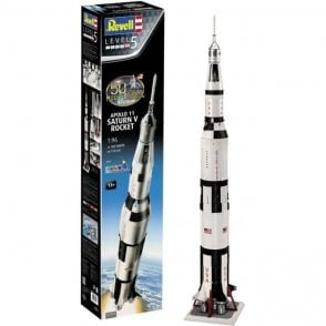 Revell 1:96 First Moon Landing 50th Anniverary Gift Set - Apollo 11 Saturn V Rocket Space Model Kit
