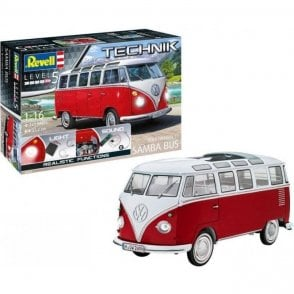 Revell Technik 1:16 Volkswagen T1 'Samba Bus' Car Model Kit - Lights & Sounds