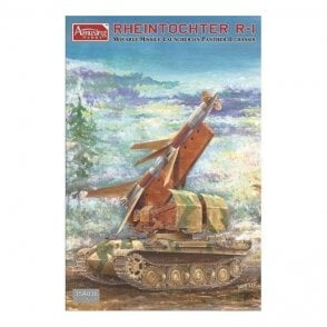 Amusing Hobby 1:35 Rheintochter R-1 on Panther II chassis Military Model Kit