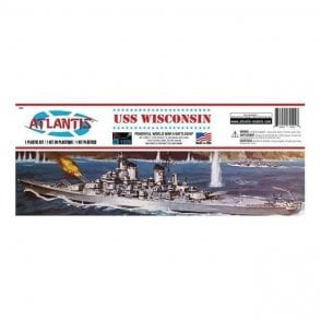 Atlantis Models 1:535 U.S.S Wisconsin BB-64 Model Ship Kit