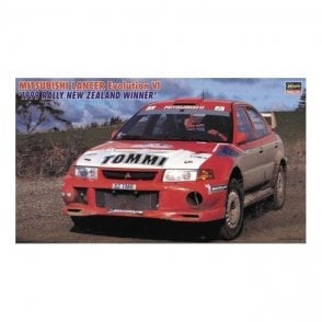 Hasegawa 1:24 Mitsubishi Lancer Evolution VI '1991 Rally New Zealand' Car Model Kit