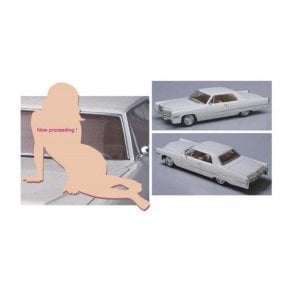 Hasegawa 1:24 1966 American Coupe Type C with Blond Girl Figure Car Model Kit