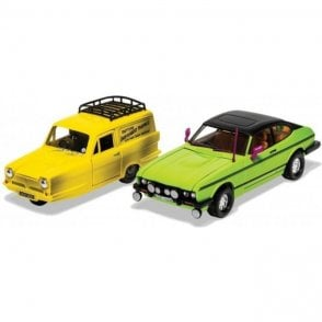 Corgi 1:36 Only Fools and Horses - Del Boy's Reliant Regal and Ford Capri MkII Model Car