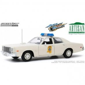 Greenlight 1:18 Artisan Collection - Smokey and The Bandit (1977) - 1975 Plymouth Fury Mississippi Highway Patrol Diecast Car