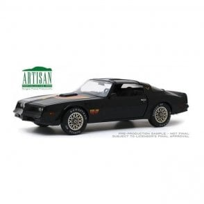 "Greenlight 1:18 Artisan Collection - 1977 Pontiac Firebird ""Fire Am"" in Black with Hood Bird - Very Special Equipment (VSE) Diecast Car"