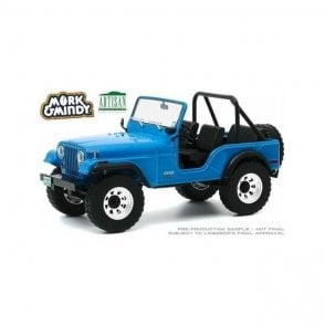 Greenlight 1:18 Artisan Collection - Mork And Mindy (1978-82 TV Series) - 1972 Jeep CJ-5 Diecast Car