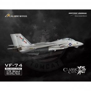 Calibre Wings 1:72 F-14A Tomcat USN VF-74 ' Be-Devilers ' , 162707 (Panel Wash Finish) LTD 500 Pieces