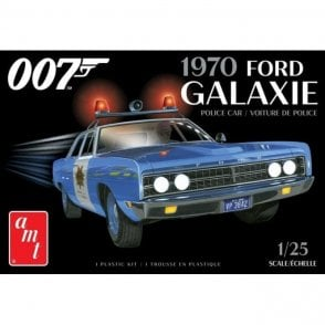 AMT 1:25 1970 Ford Galaxie Police Car - James Bond Model Kit