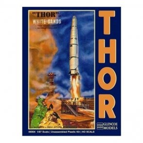 Glencoe 1:87 THOR Missile and Launch Pad Rocket Model Kit
