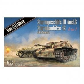 Das Werk 1:35 StuG III Ausf.G / StuH 42 2in1 with Zimmerit Military Model Kit