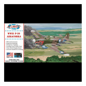 Atlantis Models 1:46 P-39 Bell Airacobra Aircraft Model Kit