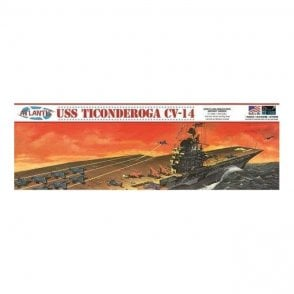 Atlantis Models 1:500 USS Ticonderoga Carrier CV14 Angled Deck Carrier Model Ship Kit