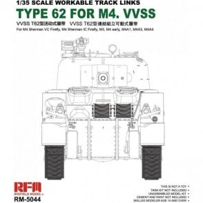 Rye Field Model 1:35 Workable track links For British Sherman VC Firefly, M3, M4A1, M4A4, M4 early Military Model Kit
