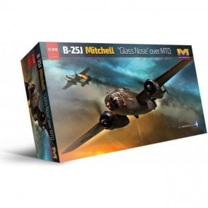 "Hong Kong Models 1:32 B-25J Mitchell ""Glass Nose"" over MTO Aircraft Model Kit"