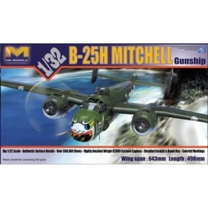 Hong Kong Models 1:32 B-25H Mitchell Gunship Aircraft Model Kit