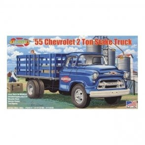Atlantis Models 1:48 1955 Chevy 2 Ton Stake Truck Model Kit