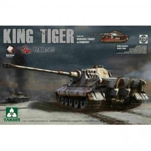 Takom 1:35 King Tiger Henschel Abt. 505 w/Zimmerit Model Military Kit