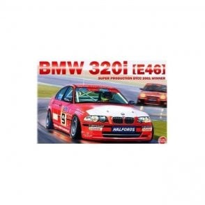 NUNU 1:24 BMW 320i E46 DTCC 2001 Winner Car Model Kit