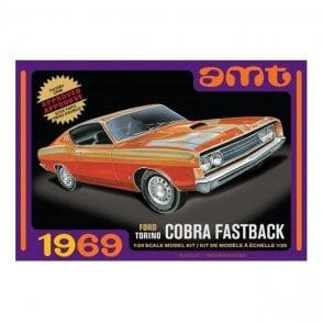 AMT 1:25 1969 Ford Torino Cobra Fastback Car Model Kit