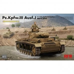 Rye Field Model 1:35 Pz.Kpfw.III Ausf. J Full Interior Kit Military Model Kit