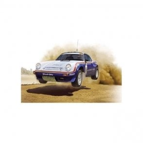 NUNU 1:24 PORSCHE 911 SC/RS Rally Oman 1984 Car Model Kit