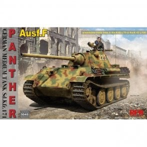Rye Field Model 1:35 Panther Ausf.F w/workable track links workable track links & suspension system Military Model Kit