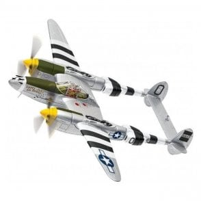 Corgi 1:72 Lockheed P38J Lightning 43-28431 MC-O, ' Happy Jacks Go Buggy ' Capt J M Ilfrey, 79th FS, 20th FG