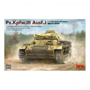 Rye Field Model 1:35 Pz. Kpfw. III Ausf. J Workable Track Links & Torsion Bar Suspension System Military Model Kit
