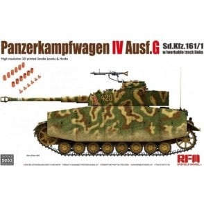 Rye Field Model 1:35 Panzerkampfwagen IV Ausf.G Sd.Kfz.161/1 Workable Track Links Military Model Kit