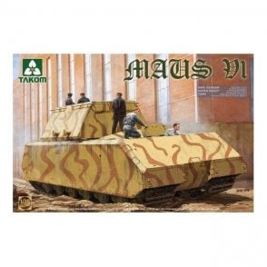 Takom 1:35 German Super Heavy Tank Maus V1 WWII Model Military Kit