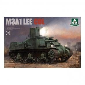 Takom 1:35 M3A1 Lee CDL US Medium Tank Model Military Kit