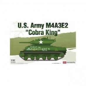 Academy 1:35 Sherman M4A3E2 Medium Tank Jumbo Cobra King Model Military Kit