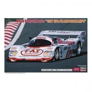 Hasegawa 1:24 Brun Porsche 962C 1987 Spa-Francorchamps Car Model Kit