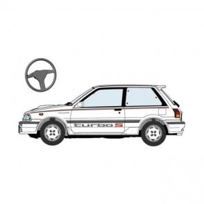 Hasegawa 1:24 Toyota Starlet EP71 Turbo-S (3Door) Middle Version Super-Limited Car Model Kit