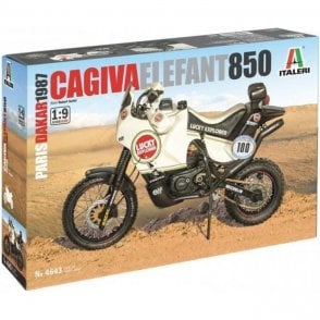 Italeri 1:9 Cagiva Elefant 850 ' Lucky Strike ' - Paris Dakar Rally 1985 Model Kit