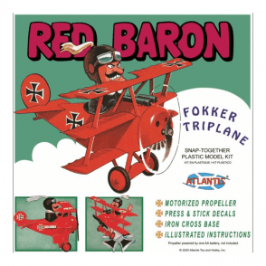 Atlantis Models Red Baron Fokker Triplane SNAP Kit Model Kit