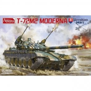 Amusing Hobby 1:35 T-72M2 Moderna Slovak MBT Military Model Kit