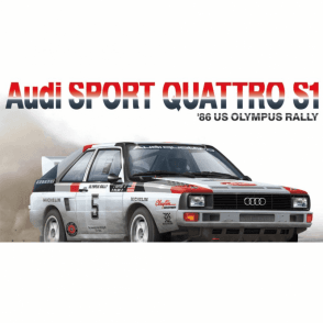 NUNU 1:24 AUDI Quattro S1 ' 86 Olympus Rally ' Car Model Kit