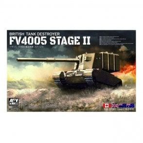 AFV Club 1:35 British FV4005 Stage II (Centaur) Main Tank Destroyer Military Model Kit