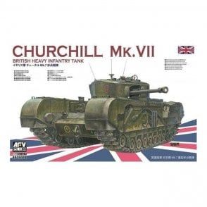 AFV Club 1:35 Churchill Tank Mk VII British Heavy Infantry Tank Military Model Kit